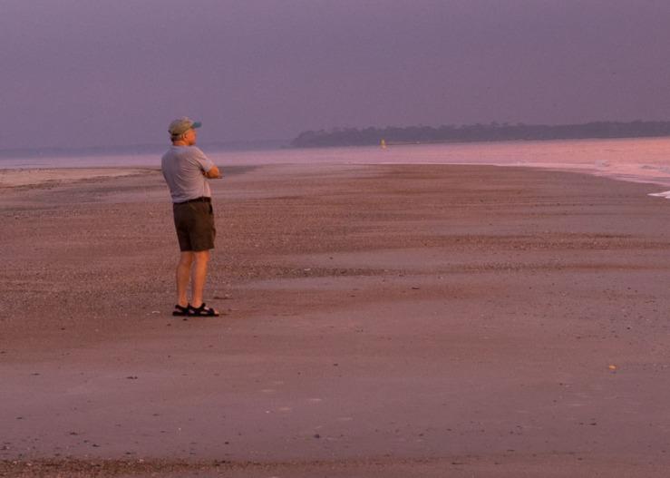 Karl on beach